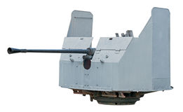 ψαλιδίζοντας το πυροβόλο όπλο ΙΙ απομονωμένος ναυτικός πολεμικός άσπρος κόσμος μονοπατιών Στοκ Φωτογραφίες