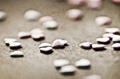 Ψεκάστε τις καρδιές Στοκ εικόνες με δικαίωμα ελεύθερης χρήσης