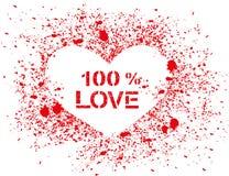 Ψεκασμένη διάνυσμα καρδιά με το κείμενο Στοκ φωτογραφία με δικαίωμα ελεύθερης χρήσης