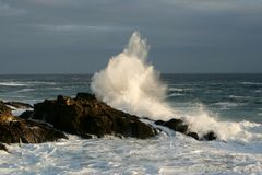 Ψεκασμός θάλασσας στοκ φωτογραφίες με δικαίωμα ελεύθερης χρήσης