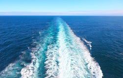 Ψεκασμός θάλασσας στην πρύμνη Στοκ Φωτογραφία