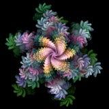 ψεκασμός κρητιδογραφιών λουλουδιών Απεικόνιση αποθεμάτων