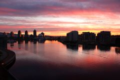Ψεύτικος κολπίσκος Dawn, στο κέντρο της πόλης Βανκούβερ Στοκ Εικόνα