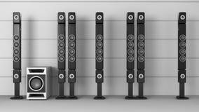 Ψηλοί κομψοί ομιλητές απεικόνιση αποθεμάτων