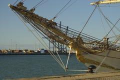 Ψηλό σκάφος Δανία στο λιμένα του Καντίζ Ισπανία Στοκ Φωτογραφία