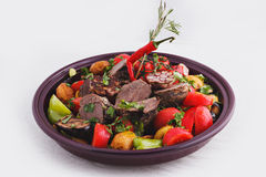 ψημένα λαχανικά κρέατος Στοκ φωτογραφία με δικαίωμα ελεύθερης χρήσης