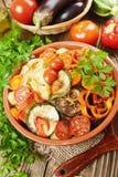 ψημένα λαχανικά Στοκ Εικόνα