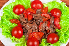 Ψημένα βόειο κρέας και μανιτάρια Στοκ Φωτογραφία