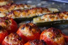Ψημένα γεμισμένα λαχανικά Στοκ Εικόνες