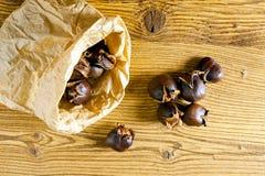 Ψημένα γλυκά κάστανα Στοκ φωτογραφία με δικαίωμα ελεύθερης χρήσης