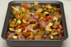 Ψημένα καρυκευμένα λαχανικά Στοκ φωτογραφία με δικαίωμα ελεύθερης χρήσης