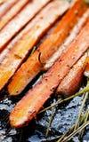 Ψημένα καρότα με τα χορτάρια Στοκ Φωτογραφία