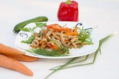 ψημένα κρέας λαχανικά Στοκ Φωτογραφία