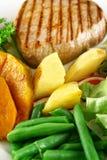 ψημένα λαχανικά μπριζόλας Στοκ Εικόνες