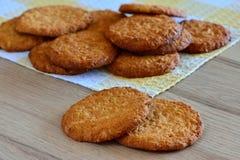 ψημένα μπισκότα φρέσκα Στοκ Φωτογραφία