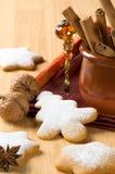 ψημένα μπισκότα Χριστουγέν&nu Στοκ φωτογραφίες με δικαίωμα ελεύθερης χρήσης