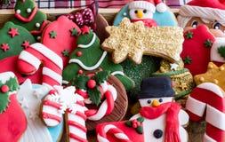 ψημένα μπισκότα Χριστουγέν&nu Στοκ φωτογραφία με δικαίωμα ελεύθερης χρήσης