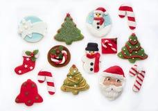 ψημένα μπισκότα Χριστουγέν&nu Στοκ Εικόνα