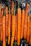 Ψημένα οργανικά καρότα με τα χορτάρια Στοκ φωτογραφίες με δικαίωμα ελεύθερης χρήσης