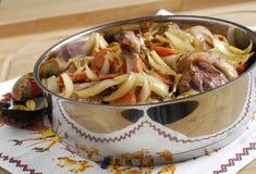 ψημένα πάπια λαχανικά στοκ εικόνες