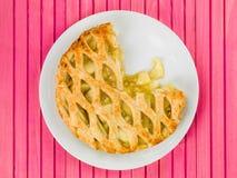 Ψημένα πίτα της Apple και επιδόρπιο κρέμας Στοκ εικόνες με δικαίωμα ελεύθερης χρήσης