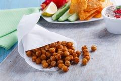 Ψημένα πικάντικα chickpeas Στοκ εικόνες με δικαίωμα ελεύθερης χρήσης