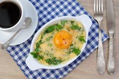 Ψημένα σπανάκι και τυρί Στοκ εικόνα με δικαίωμα ελεύθερης χρήσης