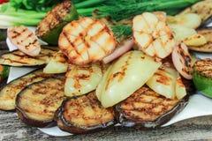ψημένα στη σχάρα λαχανικά Στοκ εικόνες με δικαίωμα ελεύθερης χρήσης