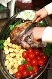 ψημένα στη σχάρα βόειο κρέας λαχανικά Στοκ εικόνα με δικαίωμα ελεύθερης χρήσης
