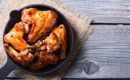 ψημένα στη σχάρα κοτόπουλ&omicro Στοκ Εικόνα