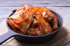 ψημένα στη σχάρα κοτόπουλ&omicro Στοκ φωτογραφία με δικαίωμα ελεύθερης χρήσης