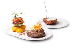 ψημένα στη σχάρα λαχανικά μπριζόλας Στοκ Εικόνα