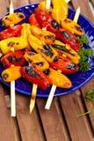 Ψημένα στη σχάρα μίνι γλυκά πιπέρια στοκ εικόνα με δικαίωμα ελεύθερης χρήσης