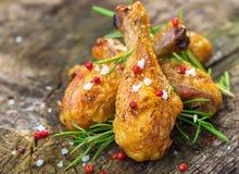 Ψημένα στη σχάρα πόδια κοτόπουλου Στοκ εικόνα με δικαίωμα ελεύθερης χρήσης