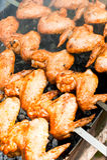 Ψημένα στη σχάρα φτερά κοτόπουλου Στοκ εικόνα με δικαίωμα ελεύθερης χρήσης