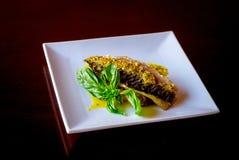 ψημένα στη σχάρα ψάρια λαχαν&io Στοκ Εικόνες