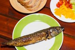 Ψημένα στη σχάρα ψάρια Στοκ Φωτογραφίες