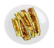 Ψημένα στη σχάρα zucchinis με το βαλσαμικό vinega Στοκ εικόνα με δικαίωμα ελεύθερης χρήσης