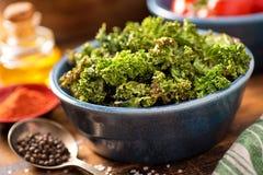 Ψημένα τσιπ του Kale Στοκ εικόνα με δικαίωμα ελεύθερης χρήσης