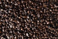Ψημένα φασόλια καφέ, πλήρες πλαίσιο στοκ εικόνες