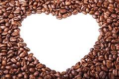 Ψημένα φασόλια καφέ, υπόβαθρο τροφίμων Εκλεκτική εστίαση Στοκ Εικόνα
