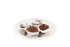 ψημένα φρέσκα muffins σοκολάτας Στοκ εικόνα με δικαίωμα ελεύθερης χρήσης