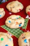 Ψημένα Χριστούγεννα μπισκότα τσιπ σοκολάτας Στοκ Φωτογραφία