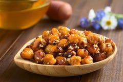 Ψημένα Chickpeas με το σουσάμι και το μέλι Στοκ φωτογραφία με δικαίωμα ελεύθερης χρήσης