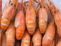 Ψημένες αλατισμένες γαρίδες Στοκ Φωτογραφίες