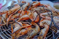 Ψημένες γαρίδες από την Ταϊλάνδη Στοκ Φωτογραφίες