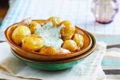 Ψημένες καινούριες πατάτες Στοκ Εικόνες
