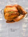 Ψημένες ολόκληρες κοτόπουλο/Τουρκία Στοκ Φωτογραφία