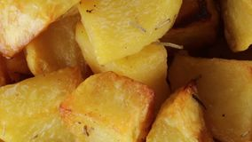 Ψημένες πατάτες βιο απόθεμα βίντεο