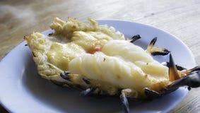 Ψημένες στη σχάρα γαρίδες, ταϊλανδικά θαλασσινά Στοκ Εικόνες